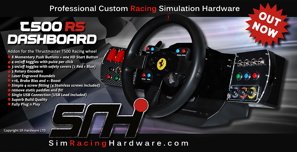 SR Hardware T500RS Dashboard